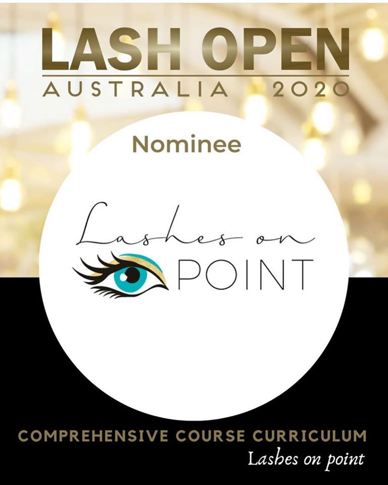 Nominee for LASH OPEN AUSTRALIA 2020: Lashes On Point, Comprehesive Course Curriculum
